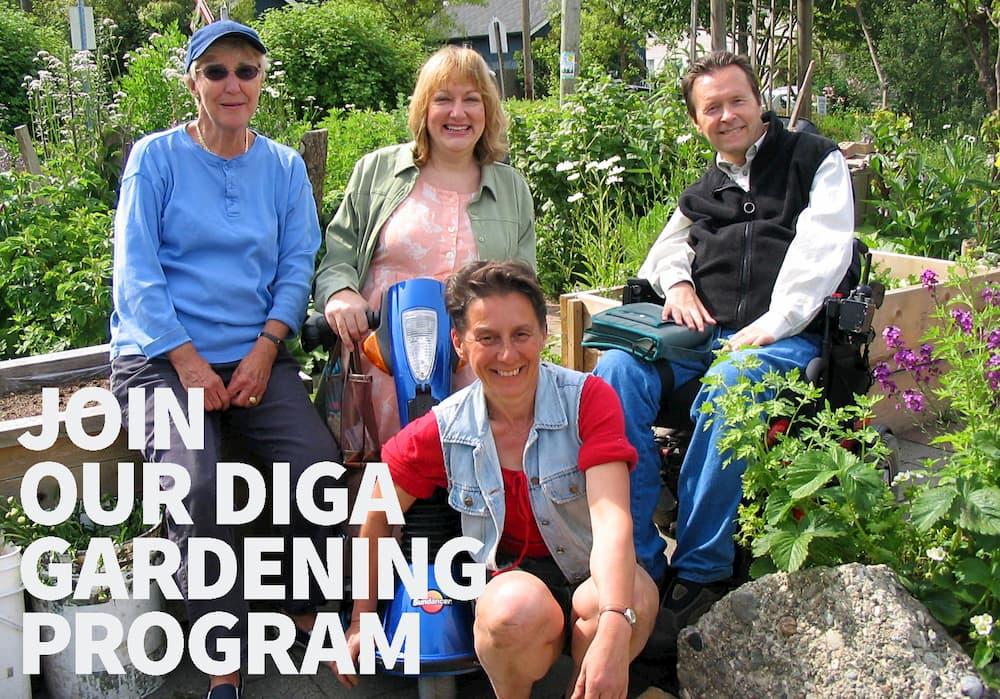 Join our DIGA Gardening Program